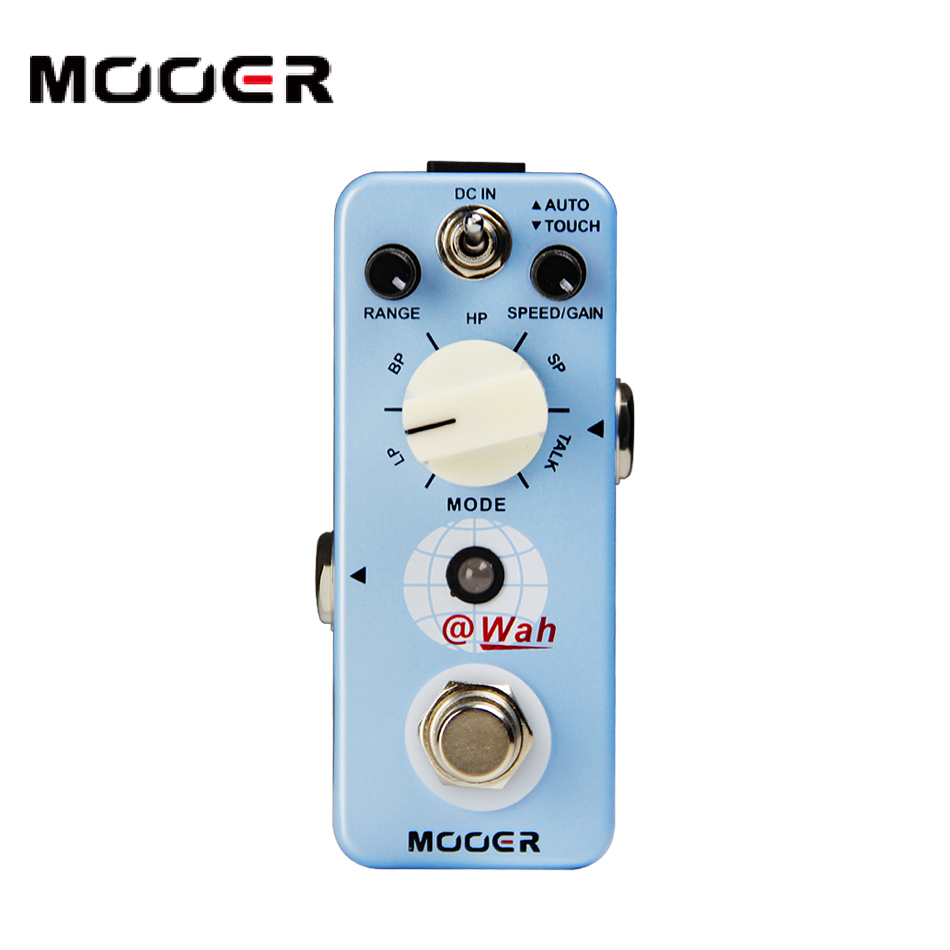 NEW Effect Pedal MOOER Wah Digital Auto Wah 4 very different Wah sounds and a cool