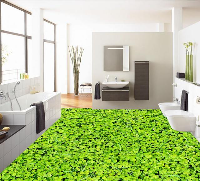 3d pvc tapete Gras 3d bad boden wasserdichte tapete für badezimmer ...