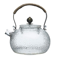 700Ml Teapot Cold Kettle Hammer Heat-Resistant Glass Transparent Copper Handle Beam Pot Can Be Heated Kettle