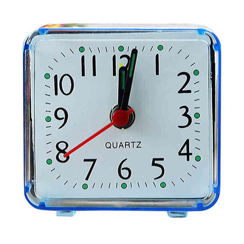 Aimecor квадратная маленькая кровать компактные дорожные кварцевые часы со звуковым сигналом модная прикроватная лампа с кроликом зеленые батарейки музыкальный набор сигнализация 19feb1
