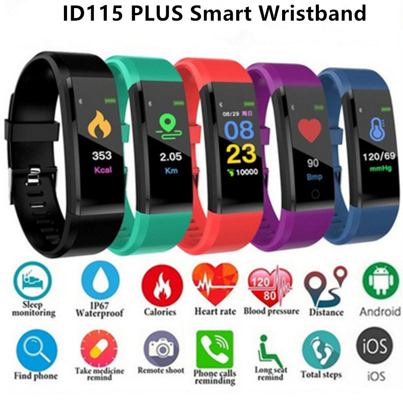 Hot ID115 PLUS Smart Bracelet Sports Wristband Heart Rate Monitor Smart Band Bluetooth for smart phone Multi-sport Fitness THot ID115 PLUS Smart Bracelet Sports Wristband Heart Rate Monitor Smart Band Bluetooth for smart phone Multi-sport Fitness T