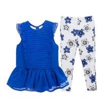 2017 New Brand Baby Girls Clothing Set Girls Dress+Pants 2pcs Suit Children Summer Clothes Kit Soft Top Quality Suit