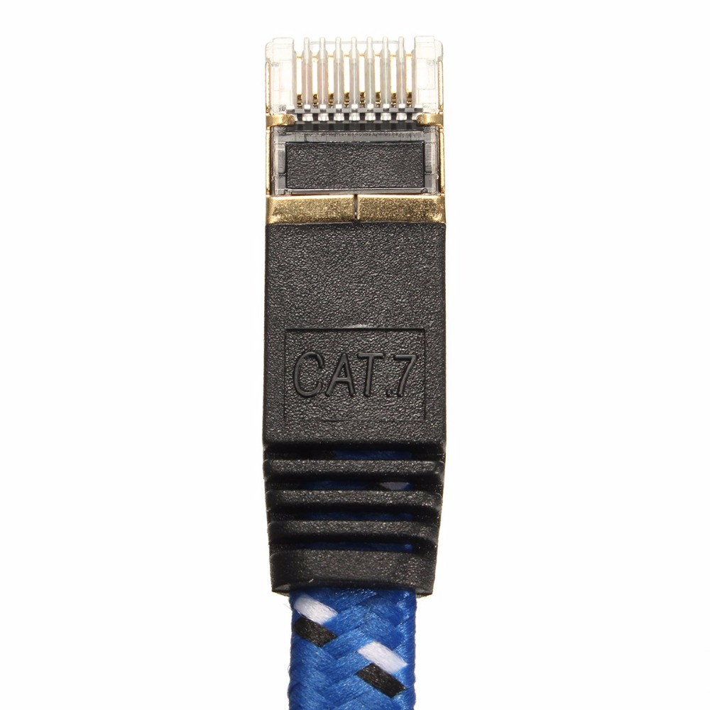 0 5m 1m 1 5m 2m 3m 5m 10m15m 20m lan cable CAT7 RJ45 Patch flat Ethernet Network Cable For Router Switch gold plate