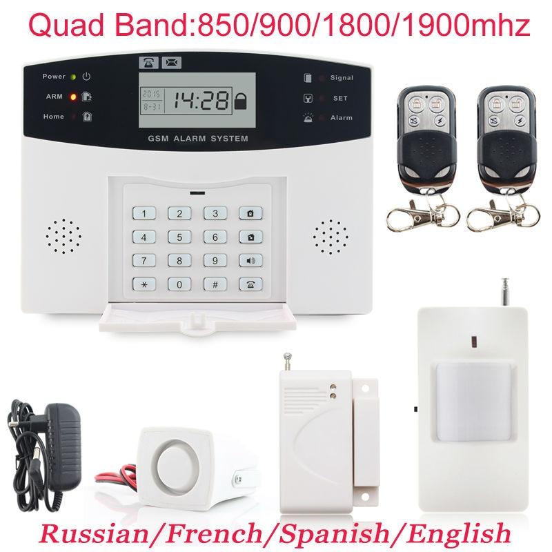 Горячие продаж Беспроводной GSM сигнализация Системы PIR охранных Защита от взлома Системы S автодозвон Dialer СМС вызова Бесплатная доставка