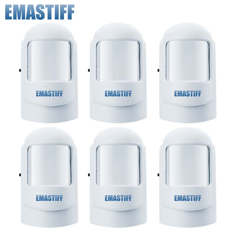Free Shipping!6 Pcs/lot  Wireless 433MHZ or 315MHZ PIR Sensor/Motion Detector For GSM/PSTN Auto Dial Home Security Alarm System 4pcs lot 315 433mhz wireless pir sensor motion detector for wireless gsm pstn auto dial home security alarm system no battery