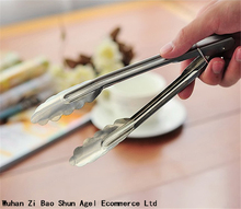 7 Inch Kitchen Tool Set Heat Bread Tong Stainless Steel Salad BBQ Cooking Food Serving Utensil Tongs
