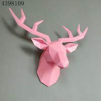 Wall hanging /2018 Nordic style elegant fashionable home decoration animal deer head sculpture crafts hotel wall decoration.