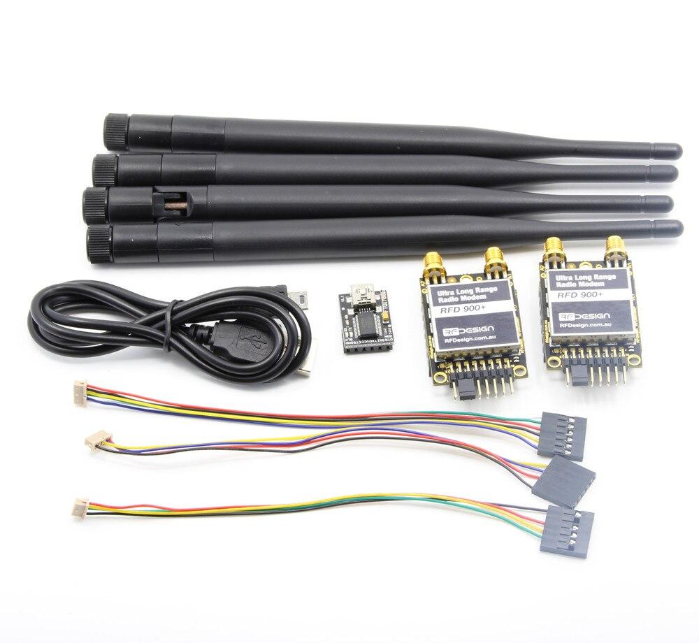 Sur 40 km RFD 900 Plus 900 MHz Ultra Longue Portée Radio de Données Modem avec Antenne pour APM PIX Vol contrôleur