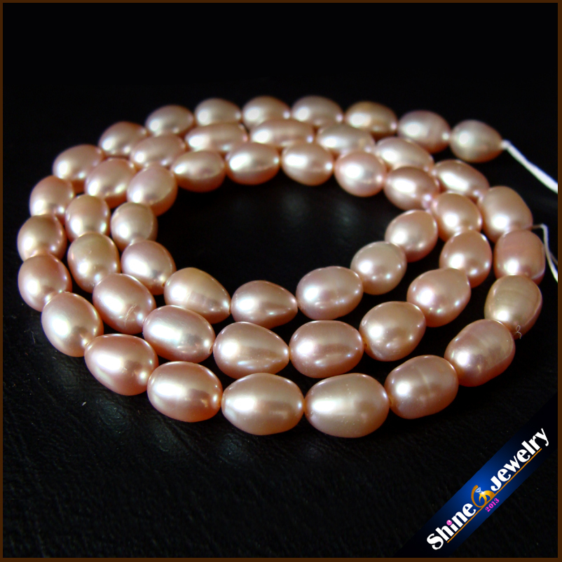 AA+ 6-8 mm Natural Gold Freshwater Pearl Oval Shape Loose Beads Strand 15 DIY Pearl Necklace Creative Jewellery Making Beads