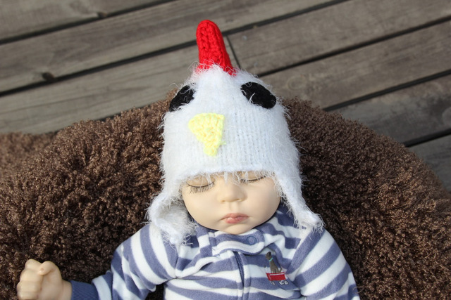Baby chicken hat costume photos photo studio props baby newborn infant crochet  chicken cap photography shoot prop 0-1m or 3-4m 655c032b825