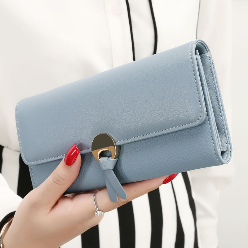 Brand Fashion PU Leather Wallet Women Purses Long Solid Card Holder Wallet Money Cash Phone Coin Purse Designer Female Clutch women wallet women s purses genuine leather clutch with large capacity for credit card cash fashion design female purses