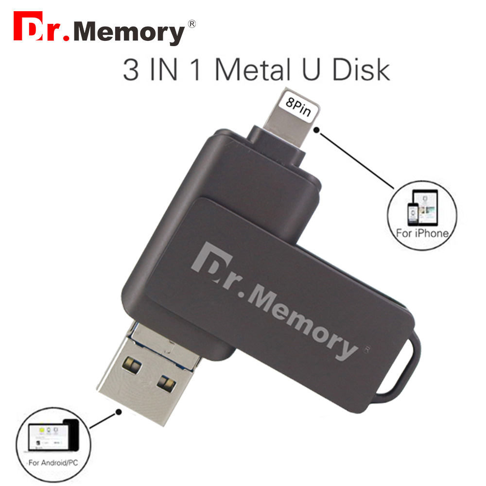 Clé USB 3 en 1 64 go clé usb OTG pour iPhone/iPad/IOS/Android/PC clé Usb 8 go 16 go 32 go disque Flash USB 3.0