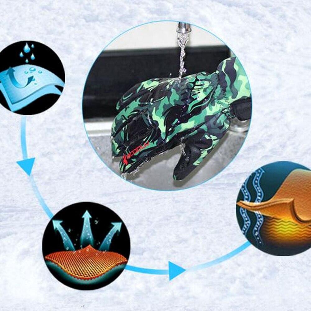 BOODUN Luvas de Esqui de Inverno À Prova D' Água À Prova de Vento Placa de Homens Solteiros e Mulheres Profissionais Homens e Mulheres Luvas Quentes - 6