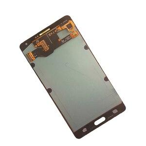 Image 3 - AMOLED لسامسونج غالاكسي A7 2015 A700 A700F A700FD شاشة LCD تعمل باللمس محول الأرقام الجمعية ل غالاكسي A7 2015 أجزاء الهاتف