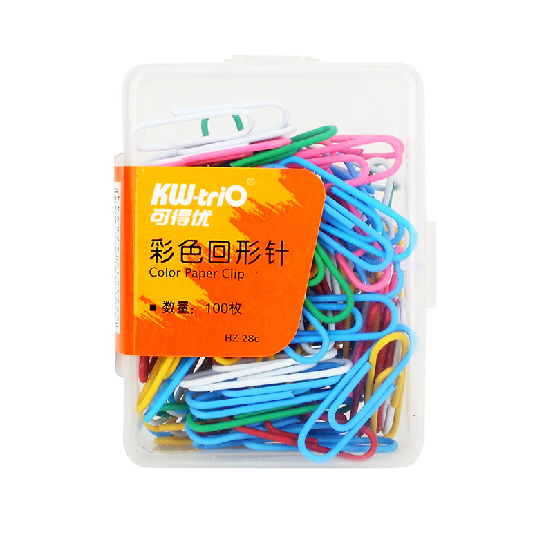500pcs/Lot Color Paper Clips Book Binder Clip School Marking Paperclips Office Binding Supplies