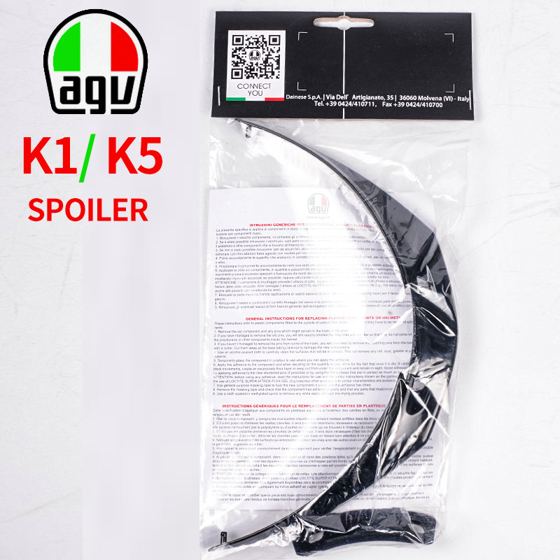 100% Original Genuine AGV Repair Parts Rear Spoiler For AGV K1 K-1 K5S K5 K-5 Helmet One Size Rear Wing Accessories