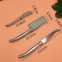 Для встречи 3 шт., сырный нож набор сэндвич-Рассекатель Набор ножей для масла из нержавеющей стали стиль Laguiole сырорезка инструменты