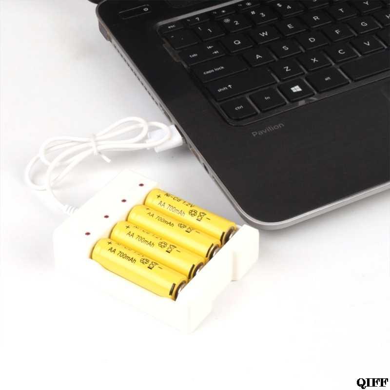 هبوط السفينة والجملة 1.2 فولت العالمي الذكية 4-فتحة AA/AAA بطارية قابلة للشحن مهايئ شاحن USB التوصيل abr28