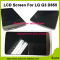 10pcs/lot Free DHL Good price quality LCD Display Touch Screen Digitizer lcd glass Assembly+Bezel Frame For LG G3 D855