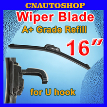 "16"" 400mm Auto Frameless Wiper Blade Bracketless Natural Rubber Car Soft Windshield"