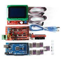 3D Printer RAMPS 1.4 Set/Kit for RepRap 3D Drucker  Mega 2560  5xDRV8825  12864 LCD for Arduino|3D Printing Materials| |  -