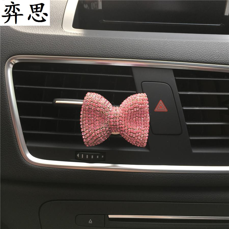 Colorful bow tie Ladies car perfume clip Ornaments Exquisite car styling Air conditioner perfume Bow shaped car air freshener