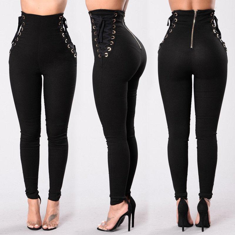 HIRIGIN Women Fitness Leggings Stretch High Waist Long Casual Pants Trousers