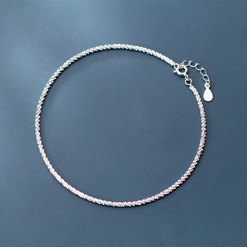 925 Silver Anklet Bohemian Jewelry Minimalism Ankle bracelet Cheville Vintage Foot jewelry Charms Leg Bracelet Anklets for Women