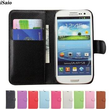 731052964f4 Cubierta de la caja de la cartera para Samsung Galaxy S3 Neo I9300 i9301  SIII GT