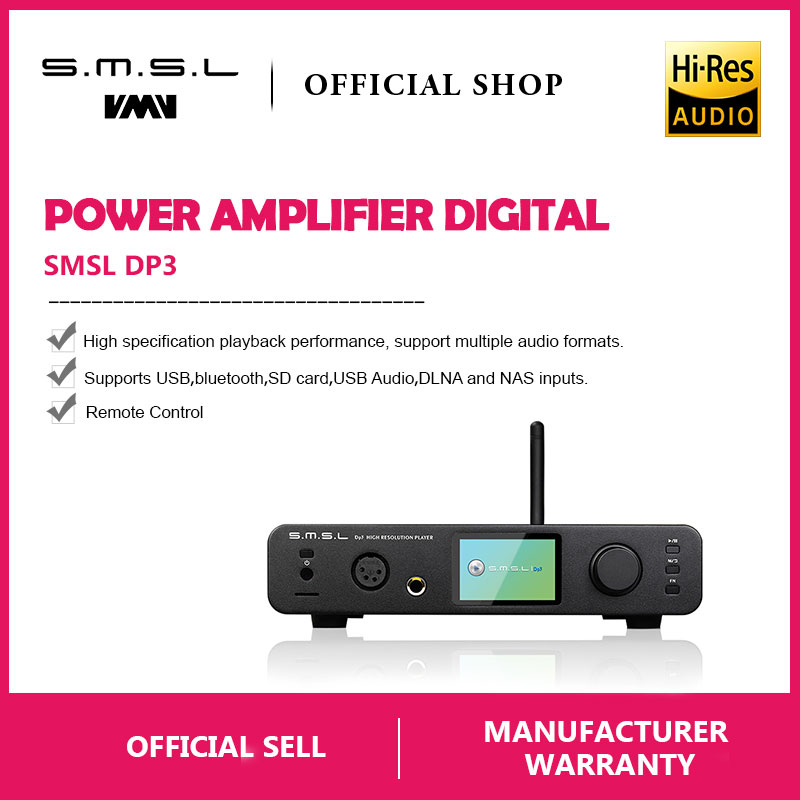 SMSL DP3 DAC ES9018Q2C USB Decoder Amplifier Balanced Digital Bluetooth4.0 LAN Network WIFI DSD Coaxial/Optical DAC Audio AMP-in Digital-to-Analog Converter from Consumer Electronics