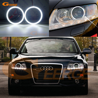 For AUDI A6 S6 RS6 2009 2010 2011 XENON headlight Excellent Ultra bright illumination smd led Angel Eyes kit Halo Ring DRL