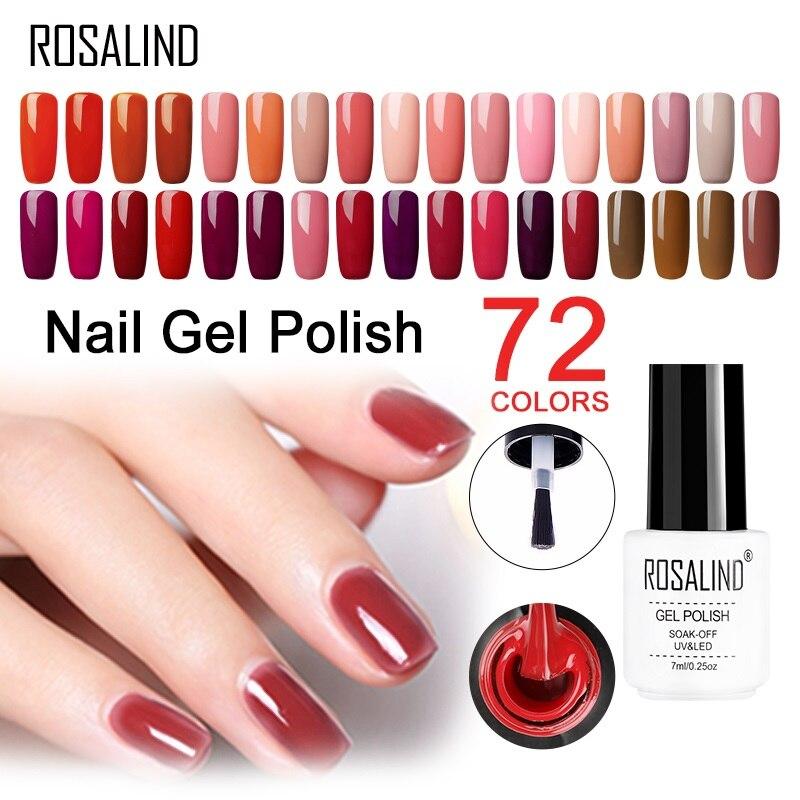 ROSALIND Gel 1 s Unhas de gel Vermelho Cereja Série Soak off Gel UV Cartilha gel unha polonês Verniz Semi Permanente para Nail art manicure