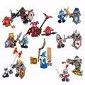 8 unids/lote nuevo nexo caballeros futuro escudo guerrero nexus juguetes embroma el regalo de bloques de construcción del castillo compatible con legoe