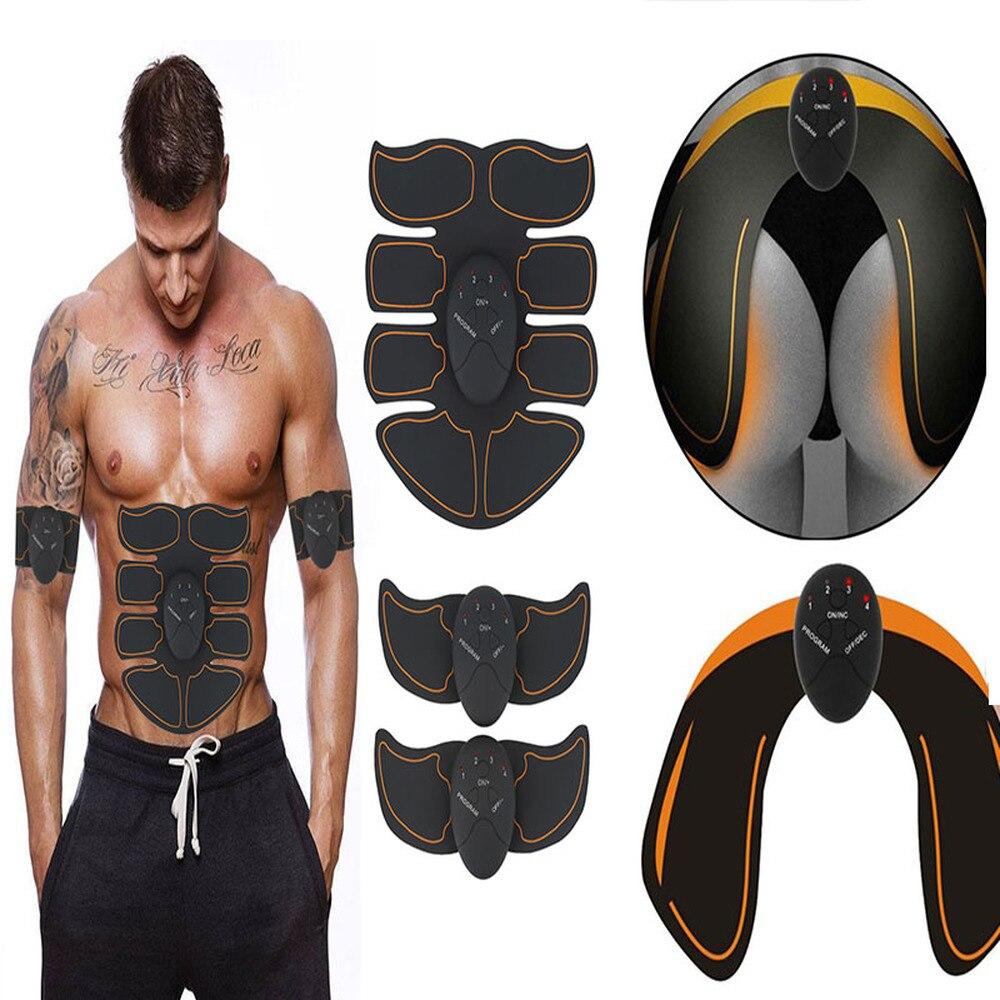 Inteligente EMS Estimulador Quadris Nádegas ABS Abdominal Trainer Estimulador Muscular Elétrica Sem Fio de Fitness Slimming Massageador Corporal