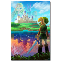 The Legend of Zelda Twilight Princess Art Silk Fabric Poster 13x20 24x36inch Hot Game Pictures for Living Room Wall Decor 006