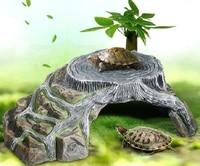 Креативный питомец рептилия спрятанная пещера аквариумный аквариум камень Черепаха обмотка подиума подиумный пандус платформа Черепаха С...