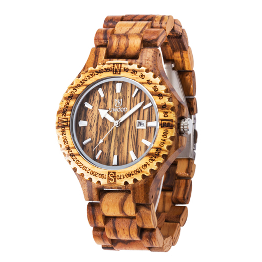 Dress Quartz Watches Men Natural Eco Wooden WristWatches Date Wood Watch Adjustable Wood Band Wristwatch Zebra Wood Watches bobo bird brand new sun glasses men square wood oversized zebra wood sunglasses women with wooden box oculos 2017