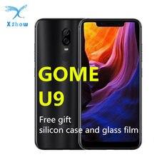 GOME-teléfono inteligente U9, 6GB RAM, 64GB de ROM, 6,18 pulgadas, MTK Helio P23, carga rápida, huella dactilar, reconocimiento facial, 12 + 5MP, 16MP