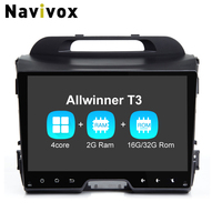 Navivox 9 2 Din Android 7 1 Quad Core For Sportage Ram2G Car GPS Navigation Stereo