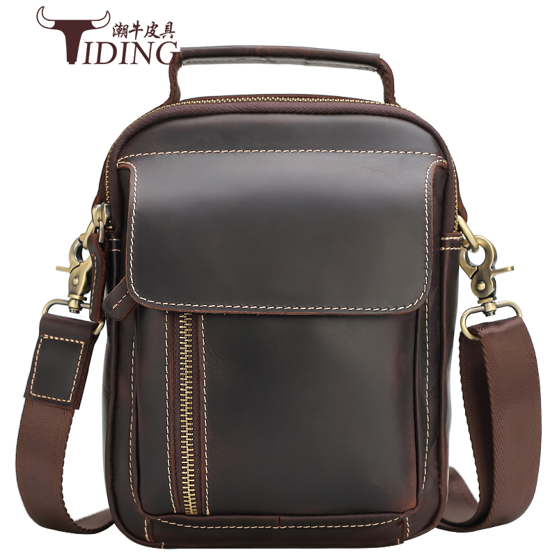 Man Shoulder Messenger Bag Handbags Cow Leather Business Man Small Casual Vintage Crossbody Bags Male Tote Handbag Bags Male men crossbody bags real leather 2017 new man fashion vintage brand shoulder messenger bags cow leather casual black bag male