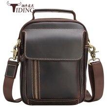 цена на Man Shoulder Messenger Bag  Handbags Cow Leather Business Man Small Casual Vintage Crossbody Bags Male Tote Handbag Bags Male
