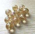 20 MM/16 MM/12 MM (Escolha o tamanho) Embutida brilho cor de ouro claro AB Chunky contas para Jóias Colar