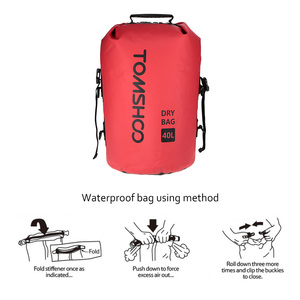 Image 3 - 40L Outdoor Water Resistant Dry Bag Sack Storage Bag for Travelling Rafting Boating Kayaking Canoeing Camping Snowboarding