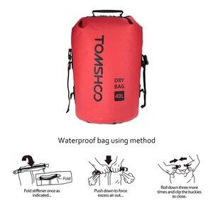 Image 3 - 40l 야외 방수 건조 가방 자루 스토리지 가방 여행 래프팅 보트 카약 카누 캠핑 스노우 보드