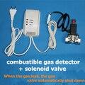 GPL detector de gás combustível Detector de Gás Natural Best-seller Casa Detector de Vazamento de Gás de Alarme de segurança + Ligação válvula Solenóide