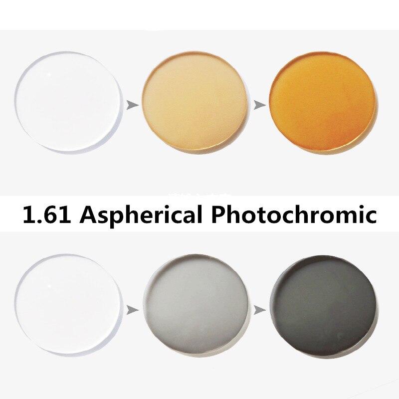 Verres asphériques en résine de Prescription photochromique 1.61 lentilles myopie lunettes de soleil lentille rapide et profonde changement de couleur Performance