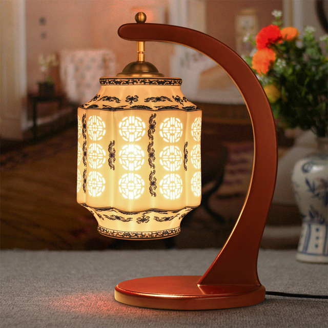 Online Shop Antique Lamp Living Room Retro Table Lamp Study Table ...