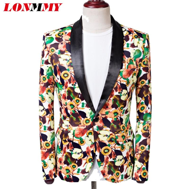 LONMMY Digital printing men suits for wedding men blazer Terno masculino Male clothes mens blazer jacket Hip-hop stage Host 2018
