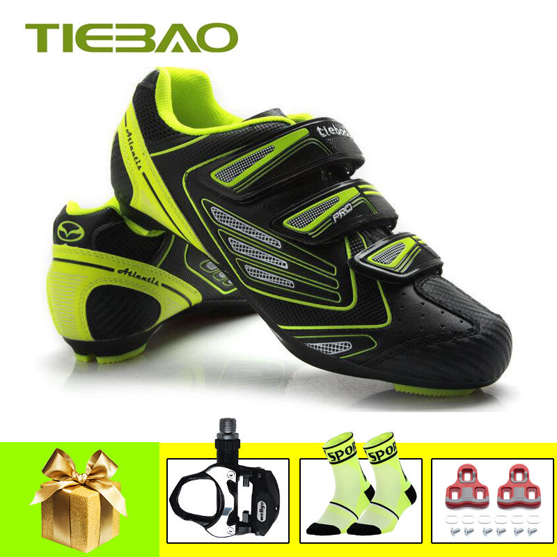 Tiebao sapatilha ciclismo road cycling shoes bicycle pedals SPD SL 2019 men women self locking Athletic bike superstar sneakers|Cycling Shoes| |  -