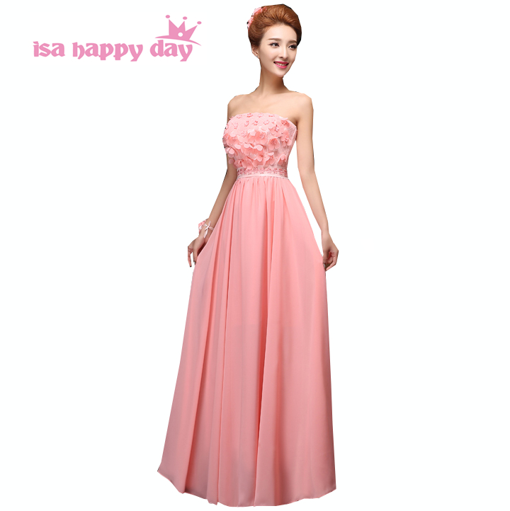 size 2 occasion simple long summer strapless bride maid dress woman formal classy  chiffon bridesmaid dresses 621ba56f2f8b